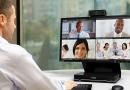 モニタ一体型テレビ会議システム